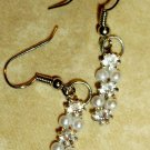 Diamond & Pearl Dangle Earrings