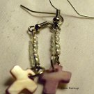 Purple Cross Earrings