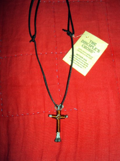 Disciple's Cross Necklace- Orange