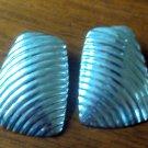 Silver bold earrings