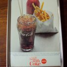 1965 Coca Cola Ad in Gold Frame