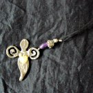 Breast cancer angel cell phone charm