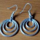 Dangly 3 circle pattern earrings