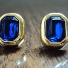 Blue jeweled earrings from the 80's