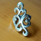 Bold sterling silver patterned ring