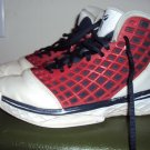 Boys Nike basketball hightops, red, white, and navy, size 4Y