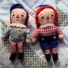 Vintage Raggedy Ann & Raggedy Andy Set of dolls