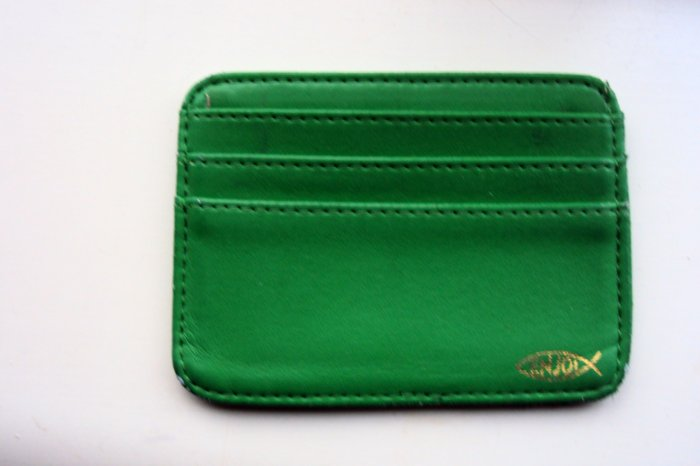 Simple Green Wallet with Christian Fish from Enjoi