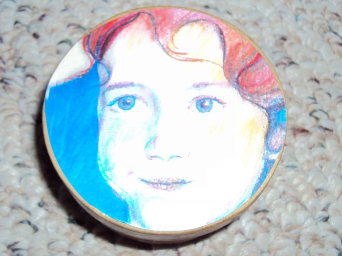 Red haired child Custom Face Box