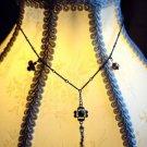 Custom necklace with silver and semi-precious stones