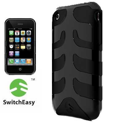 SwitchEasy SW-CAP-REB-B Rebel Case for iPhone 3G (Black)