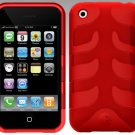 SwitchEasy SW-CAP-REB-R Rebel Case For iPhone 3G (Red)