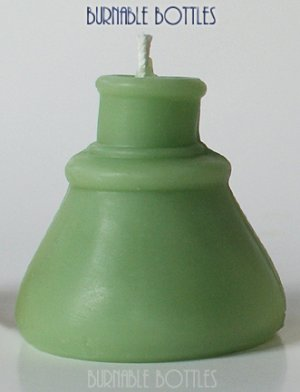 Green Color - Cone Ink Bottle Candle from Burnable Bottles