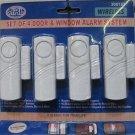 4 pc wireless door/window burglar alarm - Lot of 24 - $3.00 each