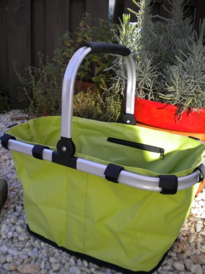 Market Tote, Lime Green