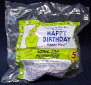 McDonald's Happy Birthday Happy Meal (1994) - #5 Sonic The Hedgehog MIP