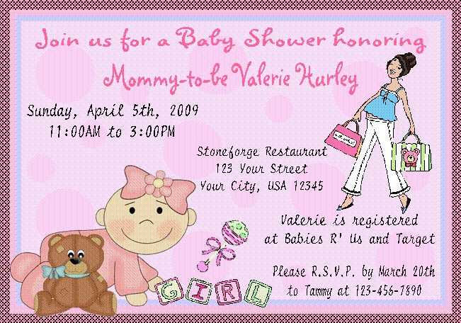 12 BABY SHOWER GIRL PINK Invitations Personalized Party Custom Babies Birthday