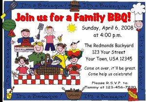 12 bbq bar b que picnic invitations personalized birthday party