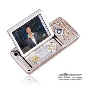 LONGXING V9 Dual Card TV Side Slide FM Touch Screen Cell Phone Gold