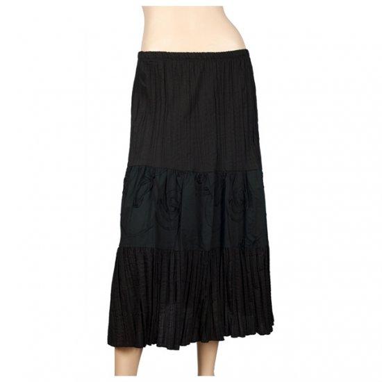 Black Plus Size Bohemian Gypsy Skirt 1X