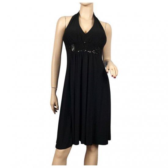 Sequins Empire waist Black Plus size Cruise Dress 2X