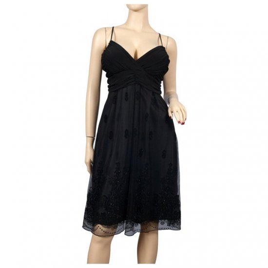 Black Layered Plus size Cruise Cocktail Dress 1X