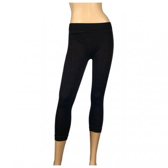 Black Slinky Stretchy Plus Size Calf Legging 1X-2X
