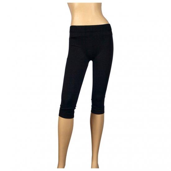 Black Knee High Plus Size Slinky Leggings 1X-2X