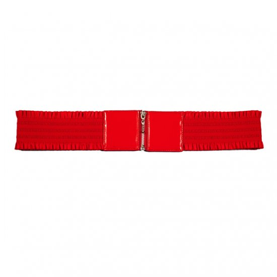 Elastic Zipper RED Plus Size Belt One Size Fits All
