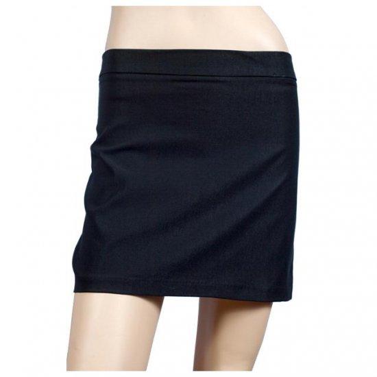 Sexy Black Hip Hugger Plus Size Mini Skirt 1X