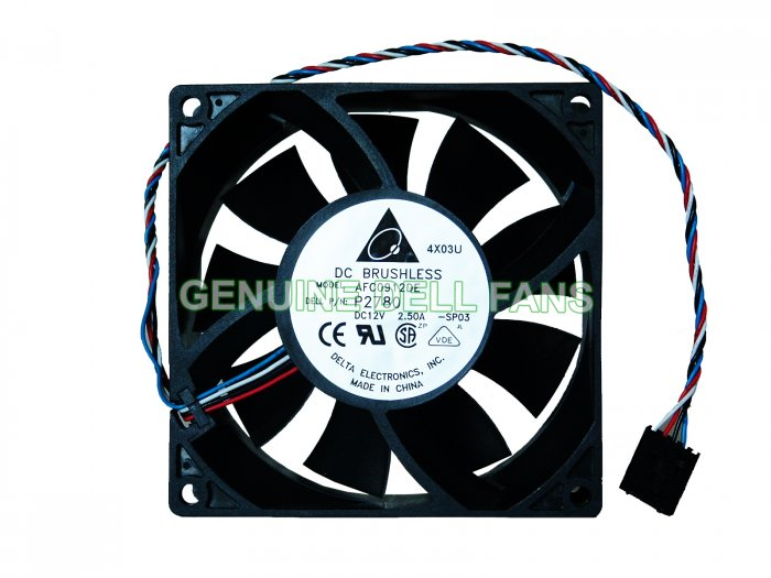Dell Precision Workstation 370 Case Cooling Fan Genuine Dell 92mm x 38mm 5-pin/4-wire