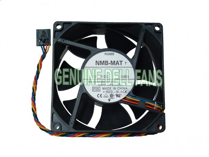 Genuine Dell Fan Precision Workstation 390 KG885 MJ611 Case Cooling Fan 5-pin/4-wire