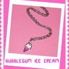 Cute Kawaii Ice Cream Cone Necklace