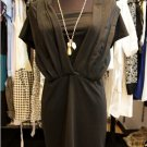Black pleats Drape Dress