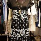Blue Floral Prints Block Dress