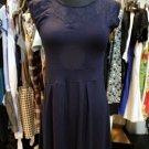 Blue Lace Top Bustier Dress