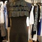 GOld Shimmer FLutter Bib Dress
