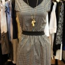 Houndstooth Zip Dress