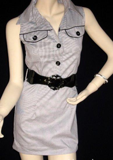 Stripe Pocket Shirt Dress