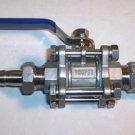 """1/2"""" Weldless Bulkhead w/ Deluxe valve"""