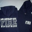Navy LAFD Hooded Sweatshirt Size L