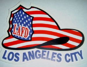 LAFD Red, White and Blue Helmet Decal