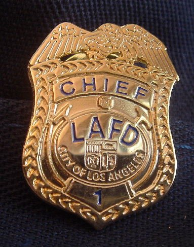 LAFD Chief Lapel Pin