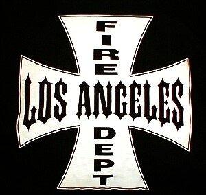 Iron Cross - Los Angeles Fire Department, LAFD T-Shirt Size 2XL
