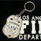 LAFD Firefighter Replica Badge Key Chain Los Angeles Fire Department