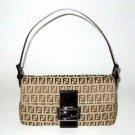 FENDI BEIGE ZUCCHINO BAGUETTE SHOULDER BAG 8BR000 (Retail price: $540.00)