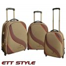GA0911 BROWN GABBIANO 3 PC BROWN EXPANDABLE LUGGAGE SET FREE SHIPPING