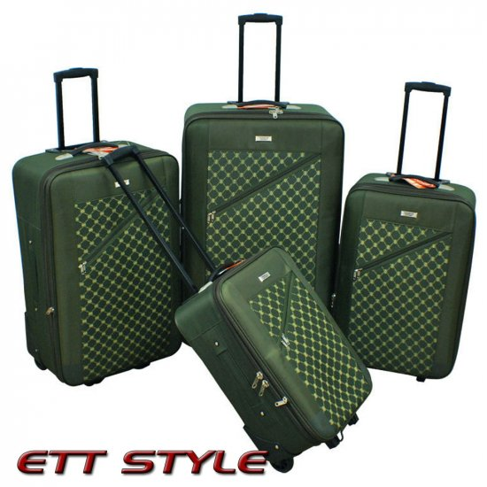 CS6270 GREEN CHARLIE SPORT 4 PC GREEN LUGGAGE SET FREE SHIPPING
