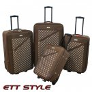 CS6270 BROWN CHARLIE SPORT 4 PC BROWN LUGGAGE SET FREE SHIPPING