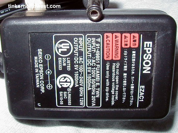 Epson EZAC1 AC Power Adapter 5VDC 1.5A